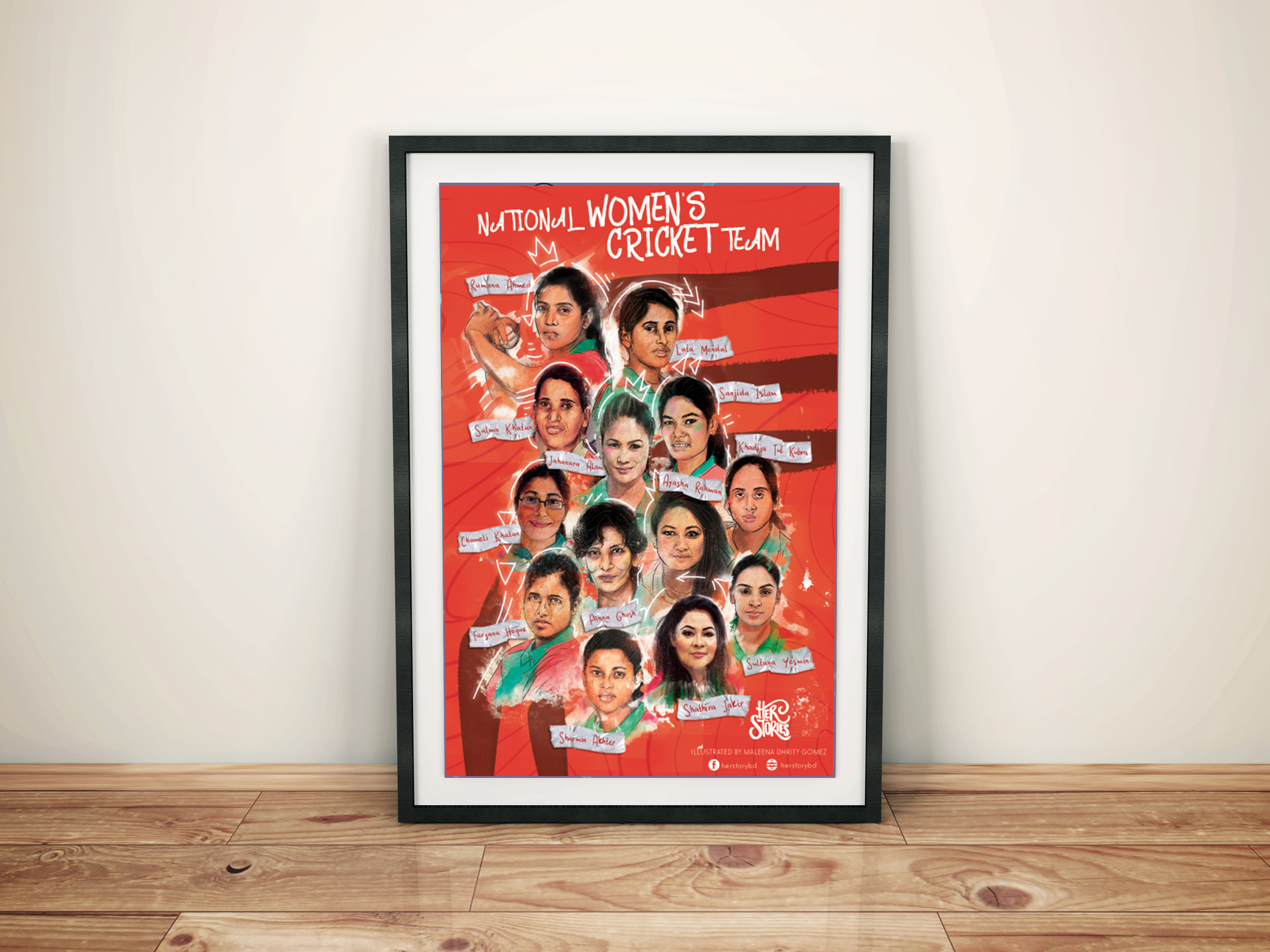 National Women's Cricket Team Poster